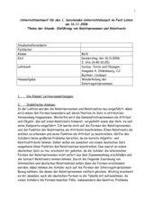 Einführung von Relativsatz und Relativpronomen