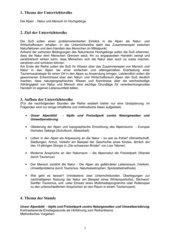 Stundenentwurf Einstiegstunde Thema Alpen
