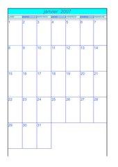 calendrier 2007 - 2008