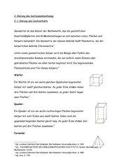 Geometrische Körper