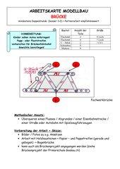 Arbeitskarte Modellbau: Brücke