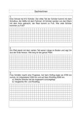 Sachaufgaben Klasse 4