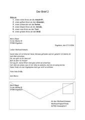 4teachers Arbeitsblätter Zum Thema Briefe Schreiben