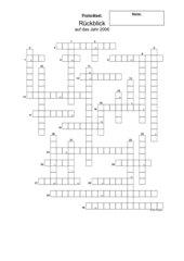 Kreuzworträtsel: Jahresrückblick 2006
