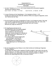 Anwendung der Winkelfunktionen in Klasse 10