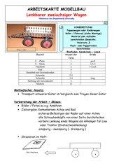 Arbeitskarte Modellbau: Zweiachsiger lenkbarer Wagen