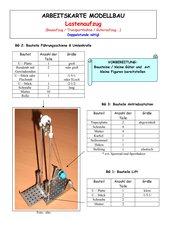 Arbeitskarte Modellbau: Lastenaufzug