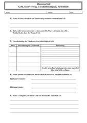 2. Schulaufgabe aus dem Fach Arbeit-Wirtschaft-Technik, Klasse 6