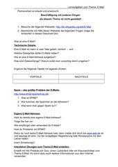 Lernaufgaben zum Thema E-Mail