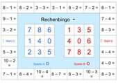 Mathe-Bingo Subtraktion