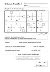 Erdkundearbeit Klasse 5 HS