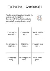 Tic Tac Toe Conditional 1