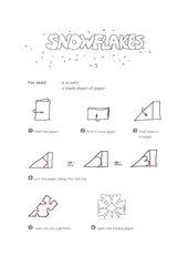 Snowflake - englische Bastelanleitung