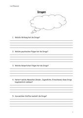Fragebogen für Internetrecherche Drogen