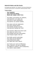 Heinrich Heine und die Ironie