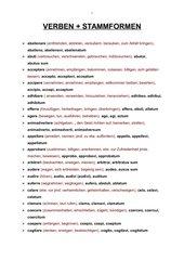 Verben und Stammformen