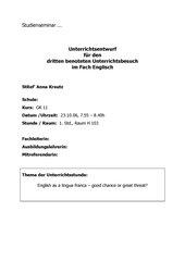 Unterrichtsentwurf GK 11