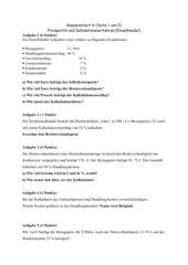 LK Lernfeld 9 (Einzelhandel) - Preispolitik und Kalkulationsverfahren