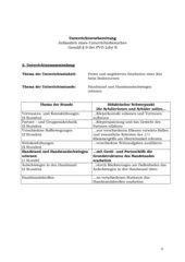 Handstand und Handstandschwingen erlernen, Kl. 6, Hpt.schule, Sachanalyse, Didaktische/Methodische Analyse, Lernziele, Verlaufsplan