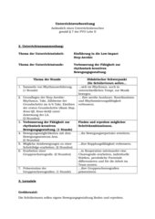 Step Aerobic (Low-Impact), Kl. 9, Hpt.schule, Lernziele, Verlaufsplan