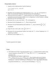 umfassende Übungsaufgabe zu trigonometrischer Funktion