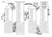 Rechenhäuser (Malfolgen)/ 2- mit Lösungsblatt