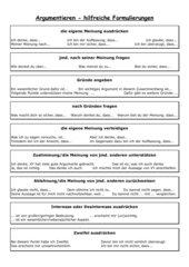 Diskussion-Formulierungshilfen
