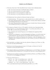 Aufgaben zum Gesetz des radioaktiven Zerfalls
