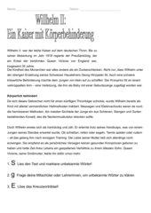 Wilhelm II: Ein Kaiser mit Körperbehinderung