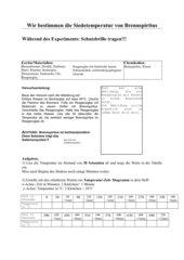 Siedetemperatur von Brennspiritus - AB und Versuchsanleitung