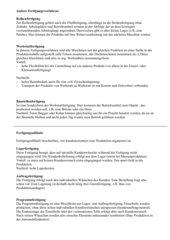 Infoblatt und Arbeitsblatt zu verschiedenen Fertigungsverfahren und Fertigungsabläufen