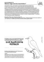 Buchstabenkette: Welcher Vogel wird beschrieben? (Elster)