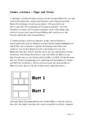 Tipps zum Zeichnen von Comics