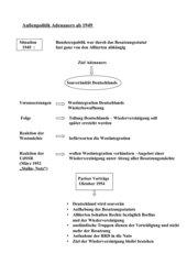 Außenpolitik Adenauers ab 1949
