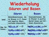 Zusammenfassung der Grundlagen zu Säuren und Basen (Klasse 9)