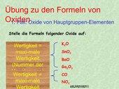 Oxid-Formeln finden (Gymn Klasse 8)