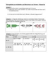 AB - Aufstellen und Berechnen von Termen mit einer Var.