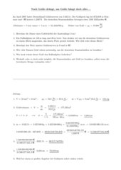 Sechsteilige Aufgabe zu Dichte und Dreisatz
