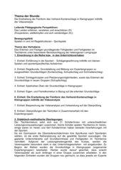 Tischtennis: Vorhandkonterschlag mithilfe der Videoanalyse