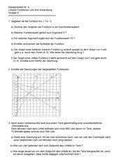 KA zu linearen Funktionen