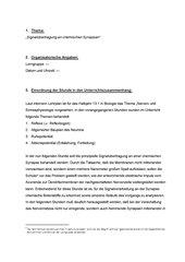 Signalübertragung an chemischen Synapsen