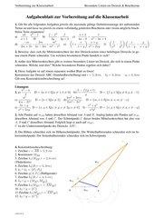 Übungsblatt zu Bruchtermen und besonderen Linien im Dreieck