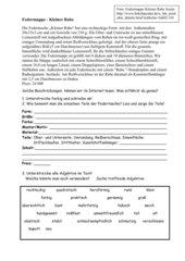 4teachers  Klassenarbeit Gegenstandsbeschreibung mit
