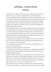 Textanalyse Apotheke Vita Nova