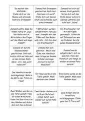 Lesespiel 3 für Klasse 3/4---Lesekette