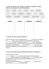 Übungsblatt  Personal- und Anredepronomen + Lösungen