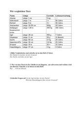 Vergleichen mit Adjektiven (Steigerung)/ 3. Klasse