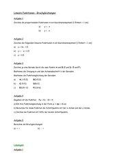 Lineare Funktionen - Bruchgleichungen