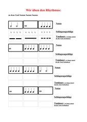 Rhythmusübungen zum Lied Summ Summ Summ