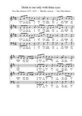 Drink to me only with thine eyes - Text: Ben Johnson - vierstimmiger Chorsatz